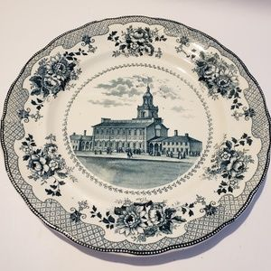 Buffalo pottery Antique plate independence Hall